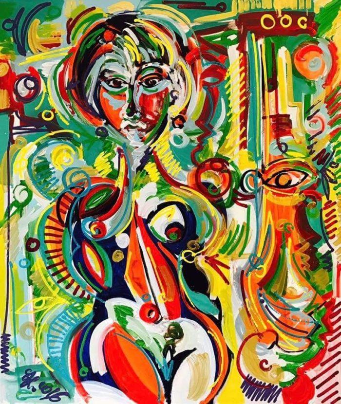 Cuban Lady | Künstler: Leon Löwentraut